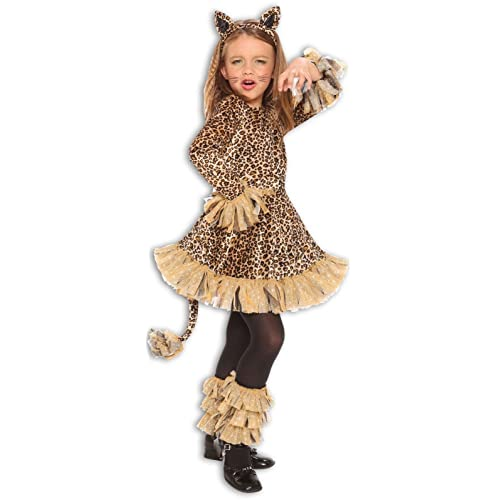 Perfect Lovely Leopard Jungle Cheetah Animal Girls Halloween Costume