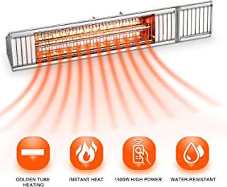 wall mounted infrared electric patio heater