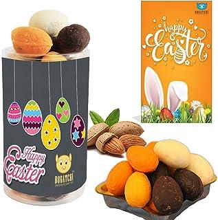 Easter Eggs, Chocolate Easter Eggs, Best Easter Gift, Easter Eggs in Dark, White, Milk, Mango and Orange Chocolates, 200g...