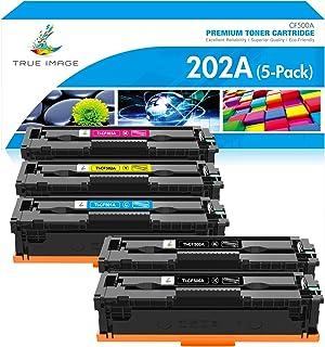True Image Compatible Toner Cartridge Replacement for HP 202A CF500A CF501A CF502A CF503A Color LaserJet Pro MFP M281fdw M...