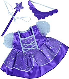 Purple Fairy Princess Dress w/Wand Teddy Bear Clothes Fits Most 14