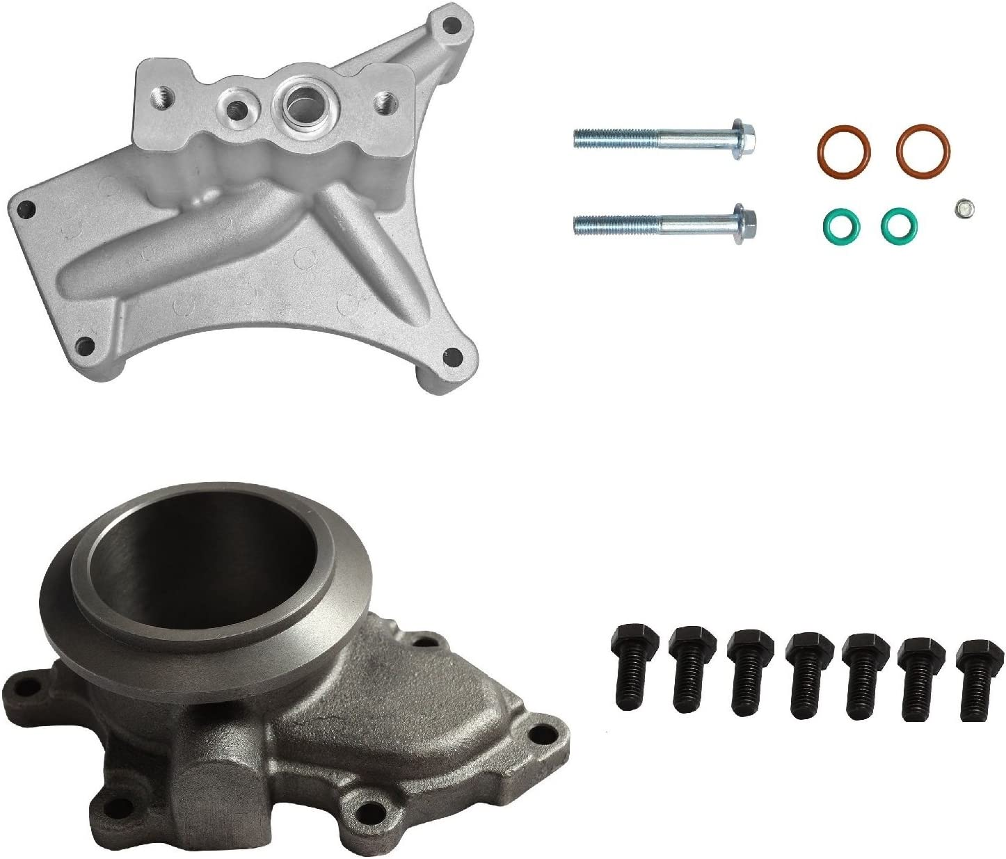 yjracing Turbo Pedestal Exhaust 限定価格セール 1年保証 Housing Repla Gaskets Up Pipes