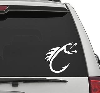 Seek Racing BASS Hook Decal Sticker Fishing Outdoors Lake Life River Rat CAR Truck Bumper Sticker