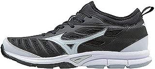 Mizuno Women's Players Trainer 2 Fastpitch Turf Softball Shoe, Black/White, 10 B US