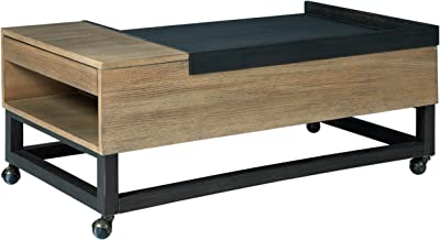 Signature Design by Ashley Fridley Lift Top Cocktail Table, Black/Brown