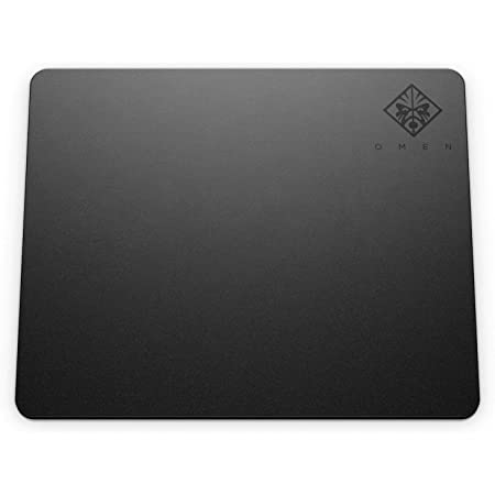 HP - Gaming Omen 100 Mouse Pad, Superficie Liscia e Antiscivolo, Tappetino in Tela, Base Gommata per Alta Stabilità, Dimensione 36 x 30 x 0.4 cm, Nero