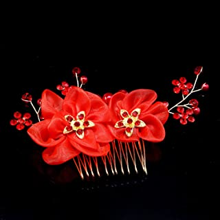 Olici Headdress Accessories/Hair Pins/Party/Prom/Bride/Girls The Comb Comb Decoration Diamond Chiffon Silk Flowers Flowers Hair Ornaments