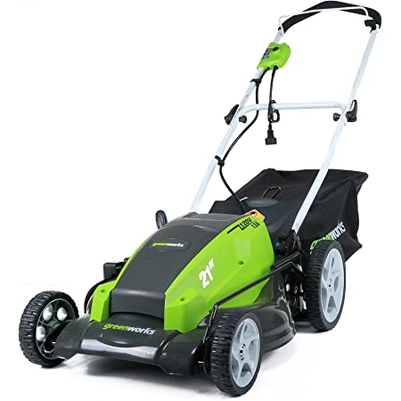 Greenworks 21-Inch 13 Amp Corded Electric Lawn Mower 25112