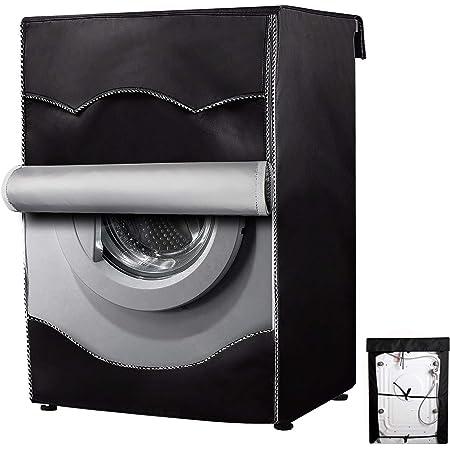 Housse de protection pour machine à laver à chargement par l'avant - Imperméable, Résistante à la poussière XL(60x64x85CM) Noir