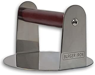 The Burger Iron | Burger Smasher | Pan-Sized Non Stick Smashed Burger Press for Ultimate Crust and Sear