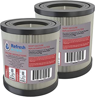 Refresh Replacement for Wet/Dry Shop Vac Air Filter model R17186 and Craftsman 17816 (2 pack)