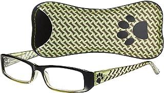 5e0ef3d60d94 Select-A-Vision Dog Bone Rectangular Reading Glasses w Paw   Bone Design