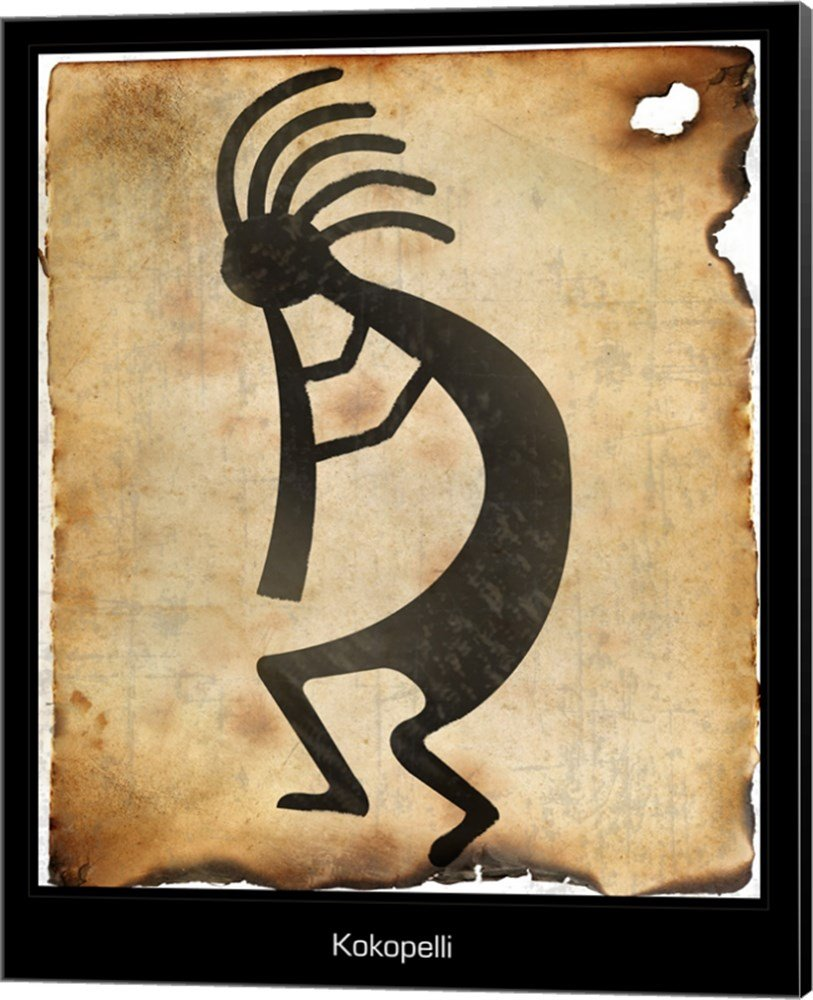 Amazon Com Kokopelli Ii Canvas Art Wall Picture Museum Wrapped With Black Sides 16 X 20 Inches Posters Prints
