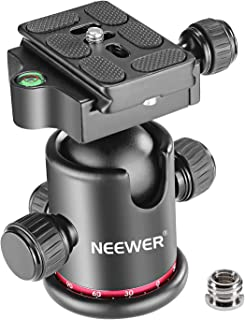 Neewer Professional Metal 360 Degree Rotating Panoramic Ball Head with 1/4 inch Quick Release Plate and Bubble Level,up to...