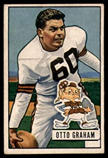 Football NFL 1951 Bowman #2 Otto Graham VG/EX Very Good/Excellent Browns