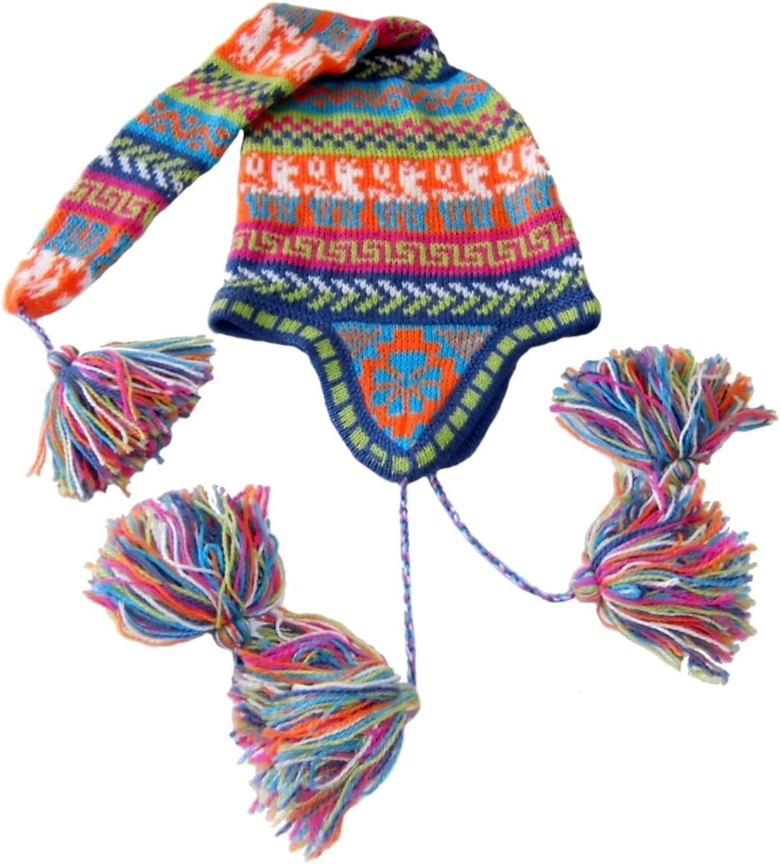 Alpakaandmore Women's Alpaca Wool Hat Duende One Size Multicolor