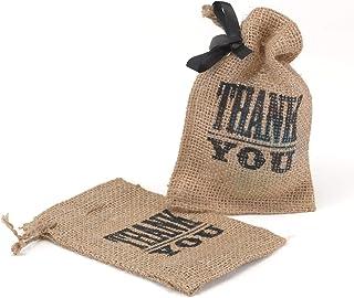 50pk Thank You Burlap Favor Bag-Favors