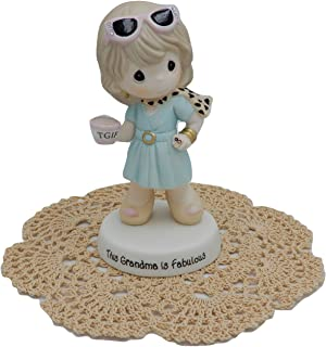 Precious Moments Loving Family Collectible Figurines with Westbraid Doily (This Grandma is Fabulous)