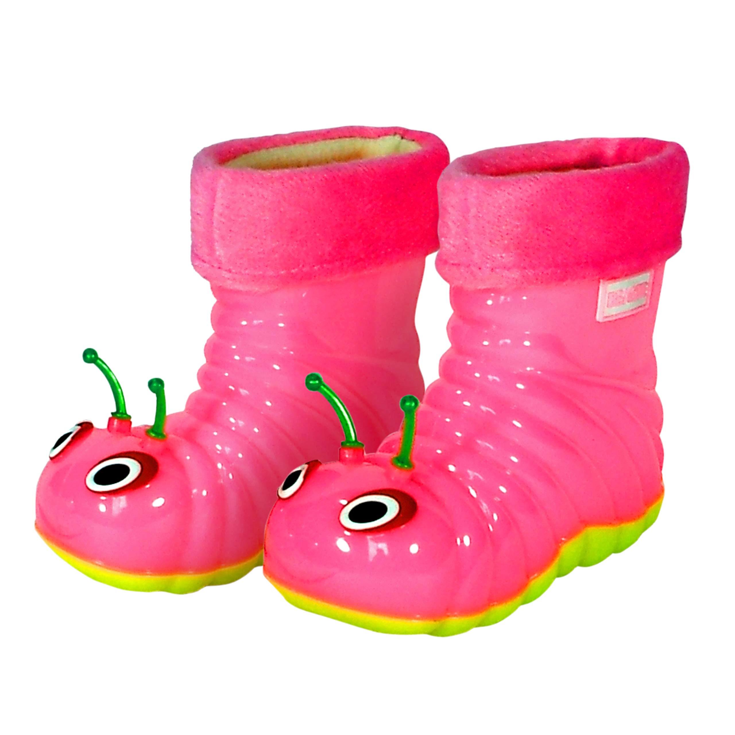 Baby Rain Boots 2-7 Years Old,Kids Toddler Boys Girls Cartoon Animal Rubber Waterproof Warm Rain Shoes Galoshes