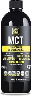 MCT Oil - 473ml - 100% Natural - Sin Sabor Sin Olor - Ideal para dietas KETO y Paleo - Excelente en Cafe, Tes, Smoothies y Ensaladas - Sin Gluten y sin OGM - Excelente Fuente de Energia y Claridad Mental - HAPPY PEOPLE FOODS