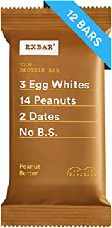 RXBAR, Peanut Butter, Protein Bar, Breakfast Bar, High Protein Snack, 1.83 Ounce, Pack of 12