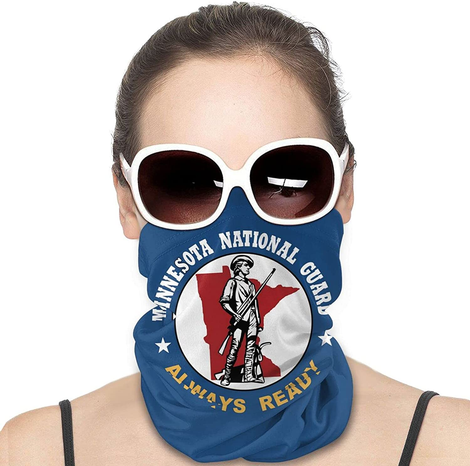 Army National Guard Trained Round Neck Gaiter Bandnas Face Cover Uv Protection Prevent bask in Ice Scarf Headbands Perfect for Motorcycle Cycling Running Festival Raves Outdoors