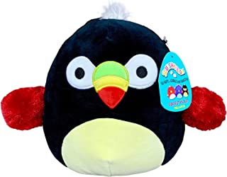 Squishmallow 8 Inch Tito The Toucan Plush Toy, Super Pillow Soft Plush Stuffed Animal, Black
