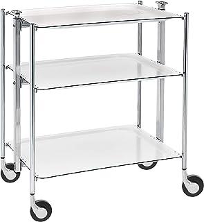 Platex Textable 500350001 Table Roulante 3 Étages Blanc Chromé