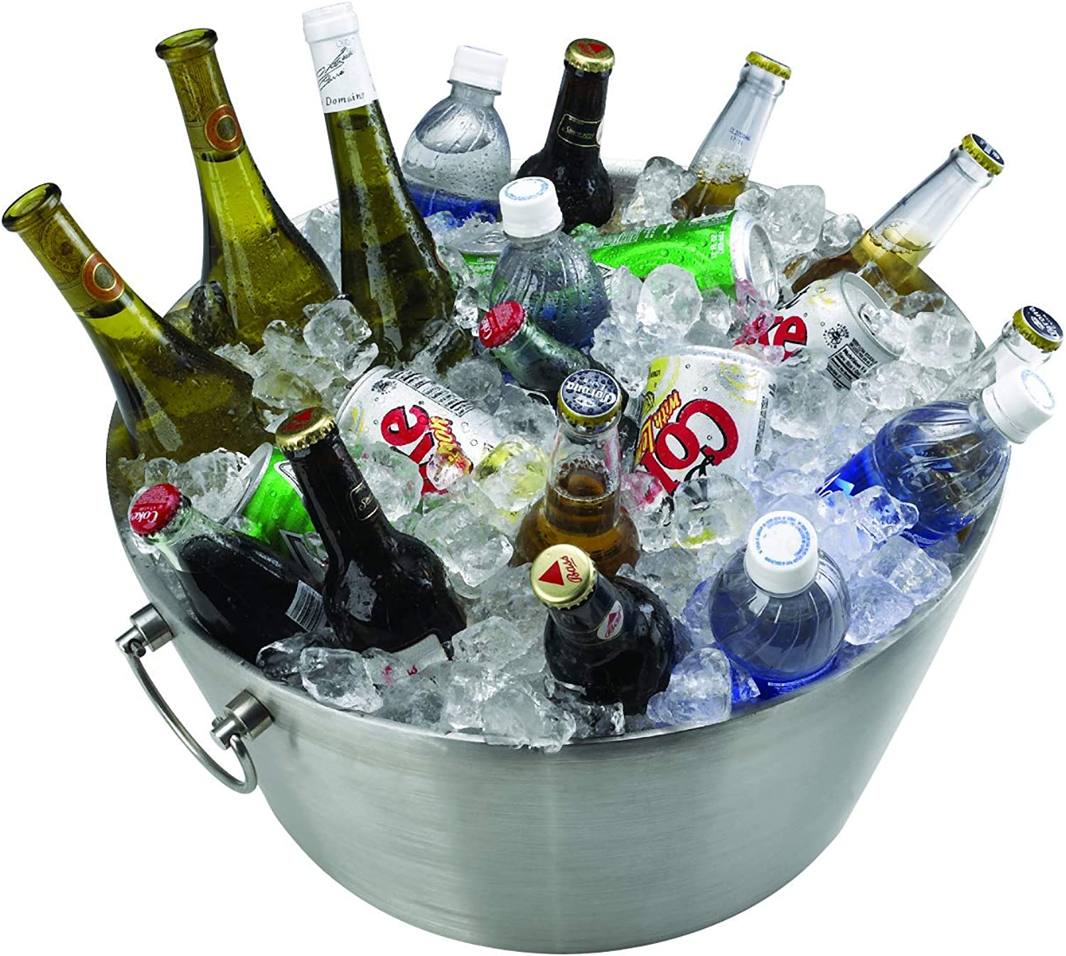 Kraftware Party Tub - 19  inch Doublewall Insulated Stainless-Steel, Back Yard BBQ Beer Tub Great for Weddings, Special Events and Parties