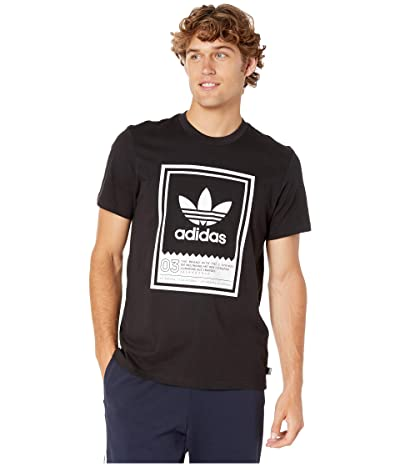 adidas Skateboarding Botsford Tee (Black/White) Men