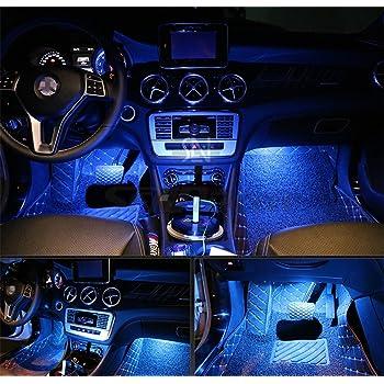 4pcs auto LED interni cruscotto kit illuminazione W/3 m sticker