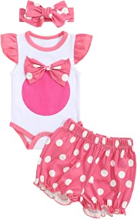 Sponsored Ad - Newborn Baby Girl Clothes Floral Letter Print Romper Pants Hat 3PCS Outfits Set
