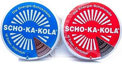 Chocolate SCHO-KA-KOLA mezclado al gusto con leche entera + chocolate negro cada 100 g