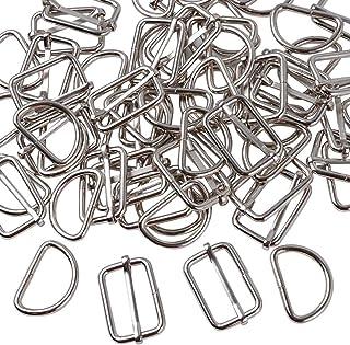 Fibbia ad anello in metallo a D non saldata 1,5 x 1 cm BIKICOCO colore: Nero 10 pezzi di colore nero.