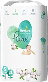 Pampers Pure Protection Tape Diapers, Small, 58 count