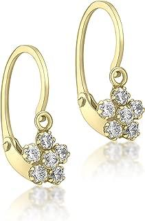Damen-Ohrringe 9 k (375) Zirkonia gold 1.54.4002