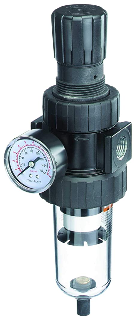 Plews & Edelmann 24-232 Standard Air Line Filter/Regulator Combo w/Poly Bowl & Automatic Drain-3/4-14 NPT