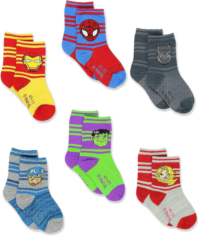 Super Hero Adventures Spider-Man Boys Toddler Kansas City Mall Brand Cheap Sale Venue Crew Socks pack 6