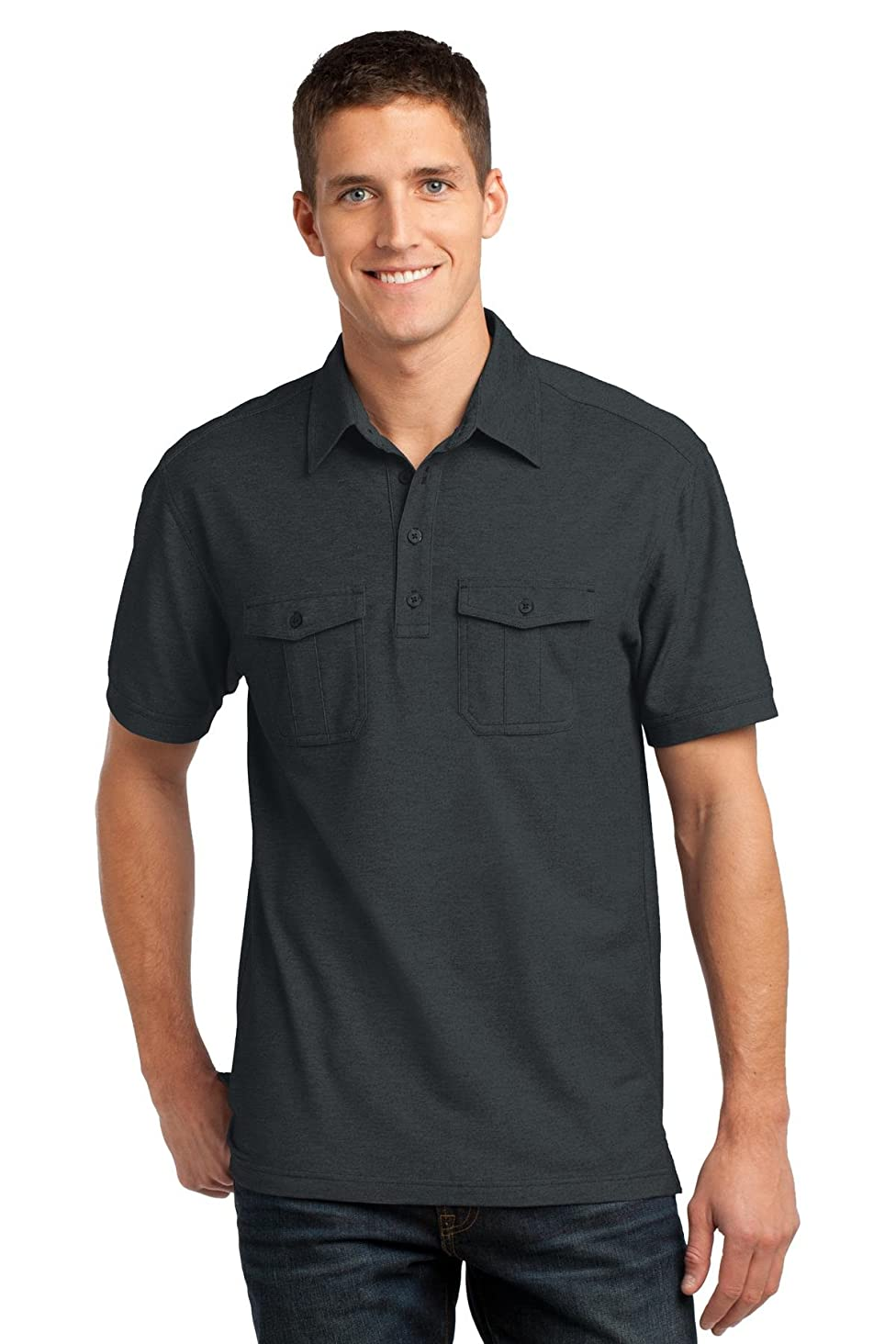 Port Authority Men's Oxford Pique Double Pocket Polo