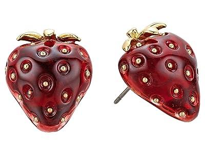 Kate Spade New York Tutti Fruity Strawberry Studs Earrings (Red) Earring