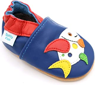 95e55a2e7ae44 Dotty Fish Chaussures Cuir Souple bébé et Bambin. 0-6 Mois - 4-
