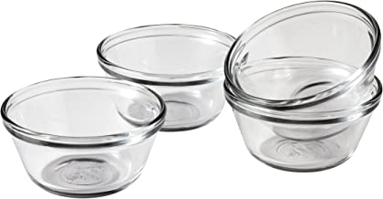 Anchor Hocking Glass Prep Bowls Custard Cups, 6 Ounce, Set of 4-81672L11