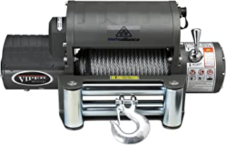 VIPER Winch 12000lb, Steel cable, integrated contactor/solenoid, wireless remote