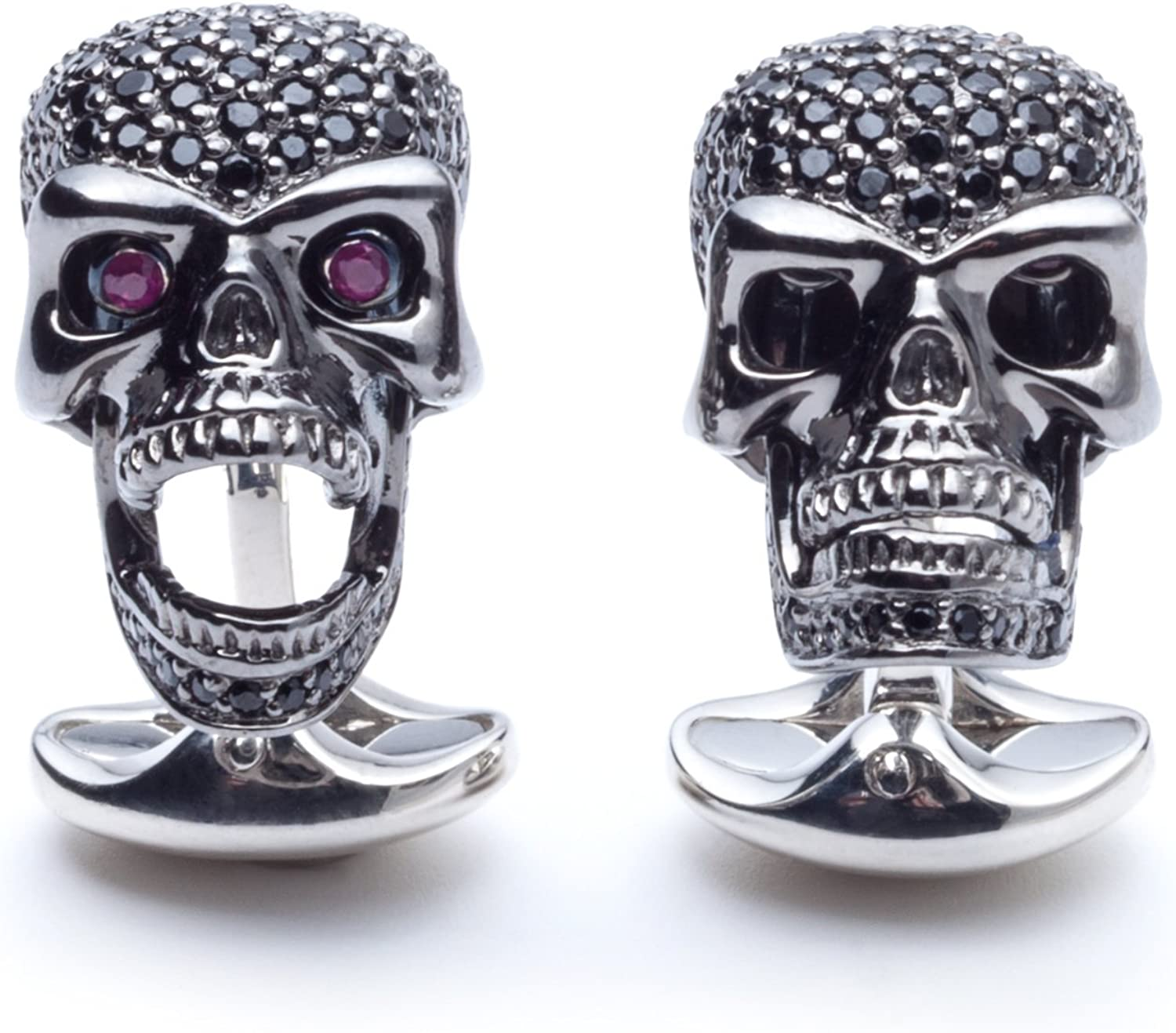 Deakin and Outstanding Francis Sterling Silver Spinel Skull 2021 autumn winter new Cufflinks Black