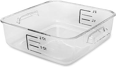 Rubbermaid المنتجات التجارية البلاستيك توفير مساحة مربع حاوية تخزين الطعام للمطبخ/سو فيديو/الغذاء الإعدادية، 2 كوارت، شفاف...