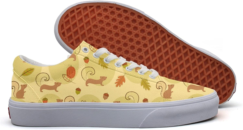 Squirrel Decor Women's Casual Sneakers Flat Slip Fashion Designer