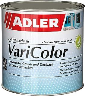ADLER Varicolor 2in1 Acryl Buntlack für Innen und Außen - 125 ml 1/8 Liter RAL7016 Anthrazitgrau Grau - Wetterfester Lack und Grundierung - matt