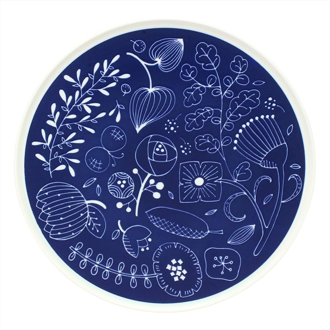 楕円形呪いジャベスウィルソン石丸陶芸 大皿 ネイビー 25.8cm 波佐見焼 シャロウ プレート L Garden 502270 500