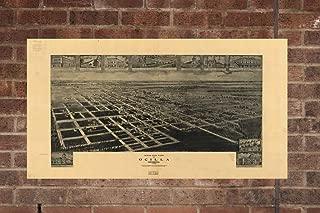 Lumaprints/ Canvas Memoirs Vintage Ocilla Georgia Map, Aerial Ocilla Georgia Photo, Vintage Ocilla Georgia WA Pic, Old Ocilla Georgia Photo, Ocilla Georgia Poster, 1908 Home Decor, Wall Art