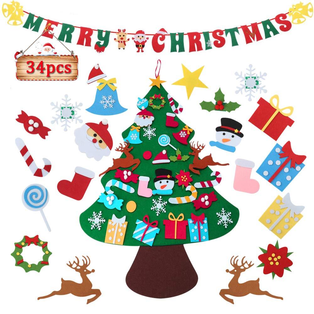 Pretty Navidad Fieltro ADORNOS PARA TARJETAS//MANUALIDADES